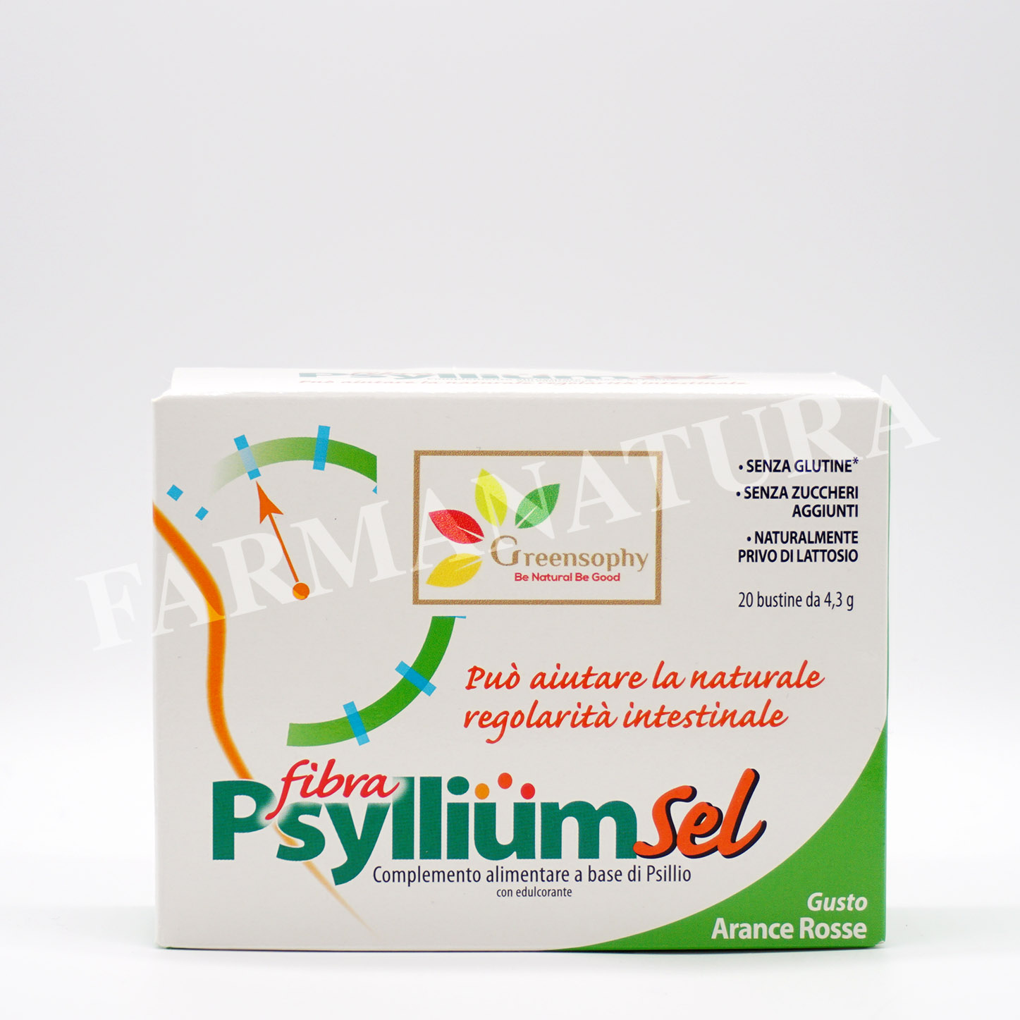 Greensophy Psyllium Sell Fibra Gusto Arancia 20Bst