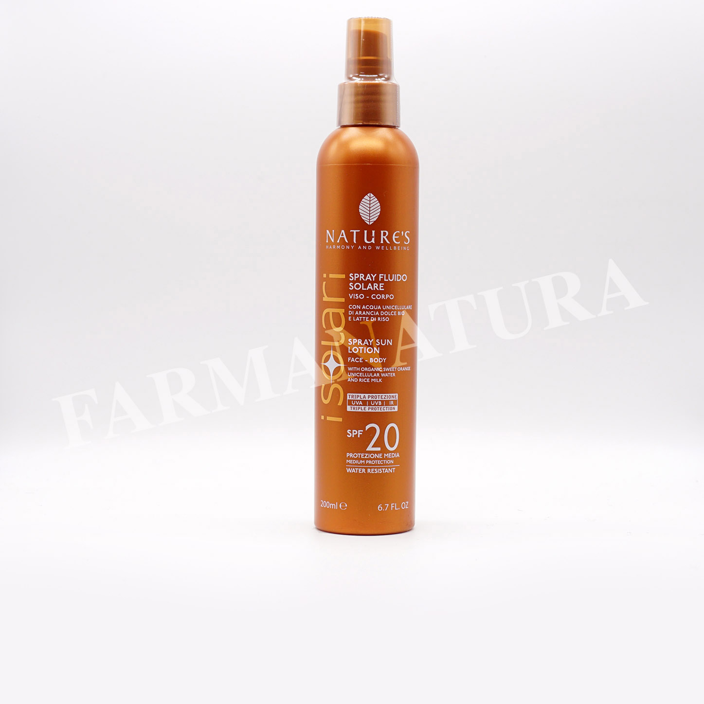 Spf20 Spray Fluido 200 Ml Nature'S