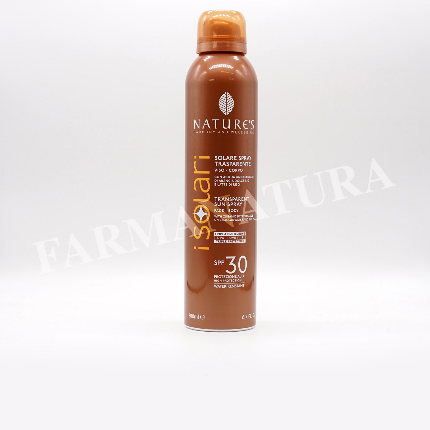 Spf30 Spray Trasparente 200 Ml Nature'S