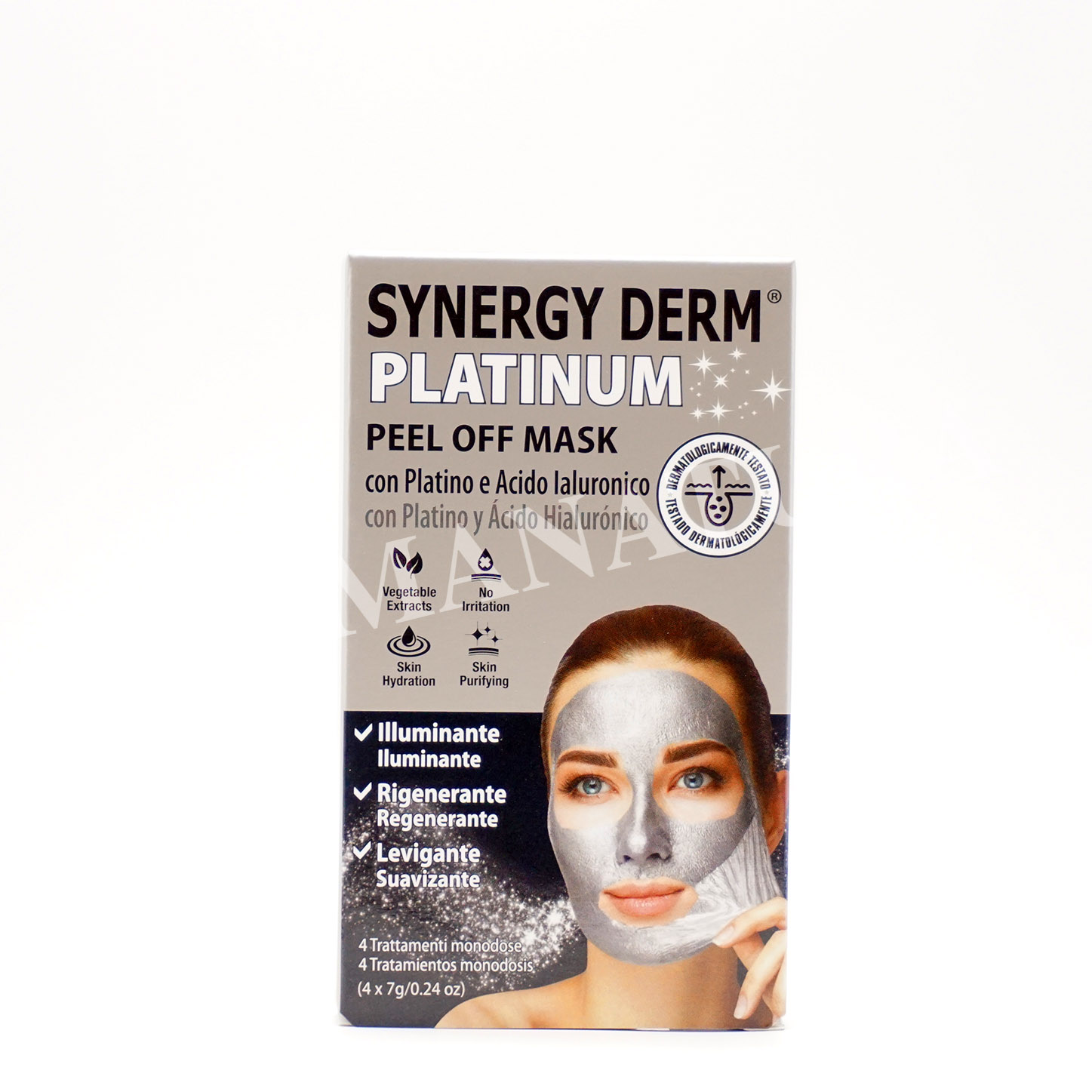 Synergy Derm Platinum Peel Off Mask 4 Trattamenti